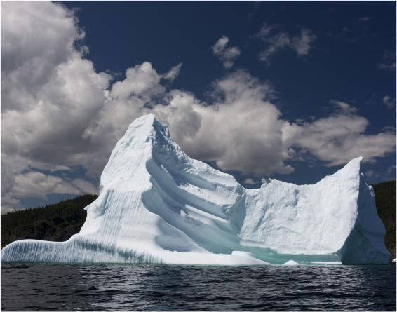 iceberg in cold atlantic waters