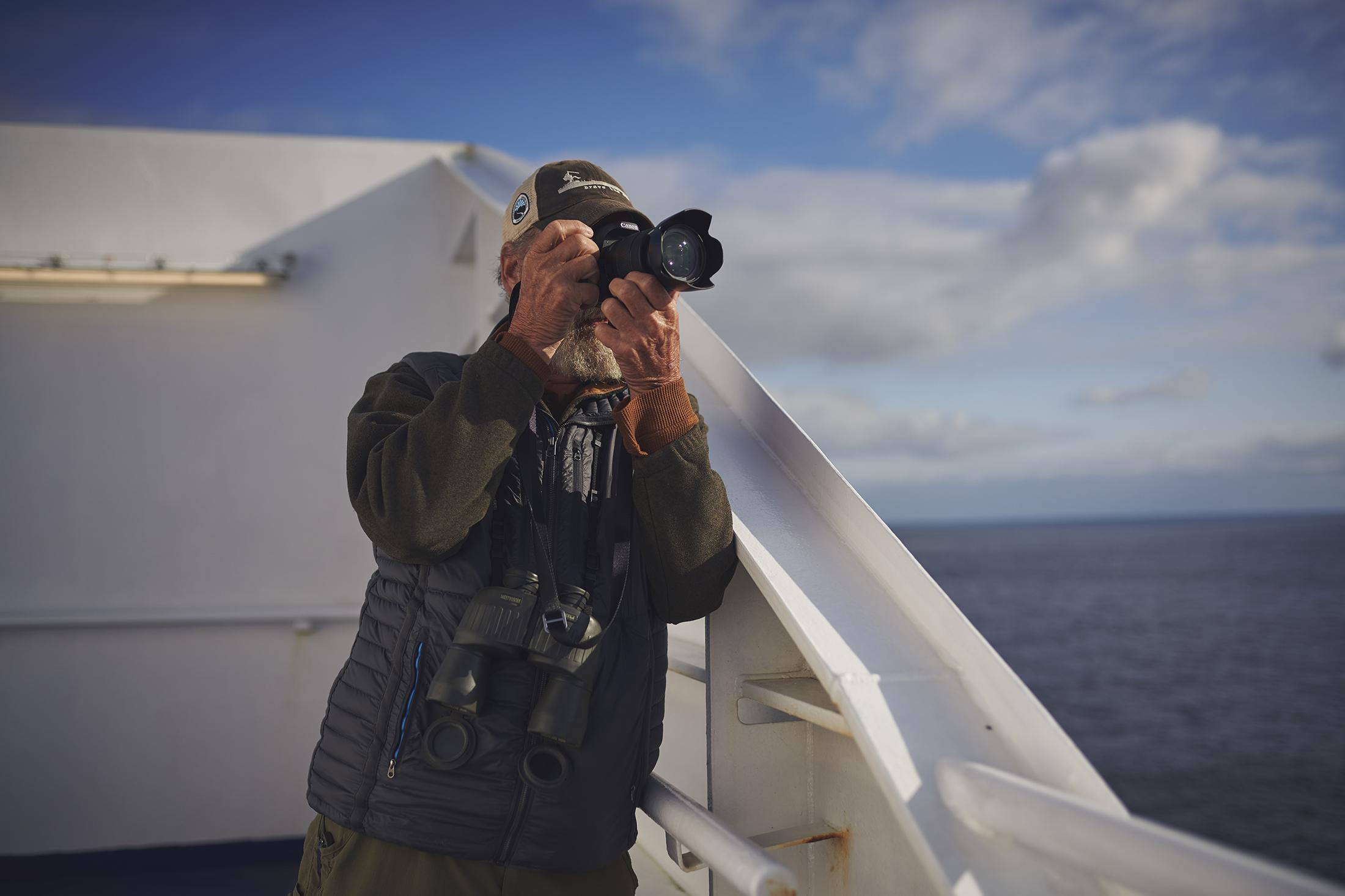 Marine Atlantic Passenger Taking Photos