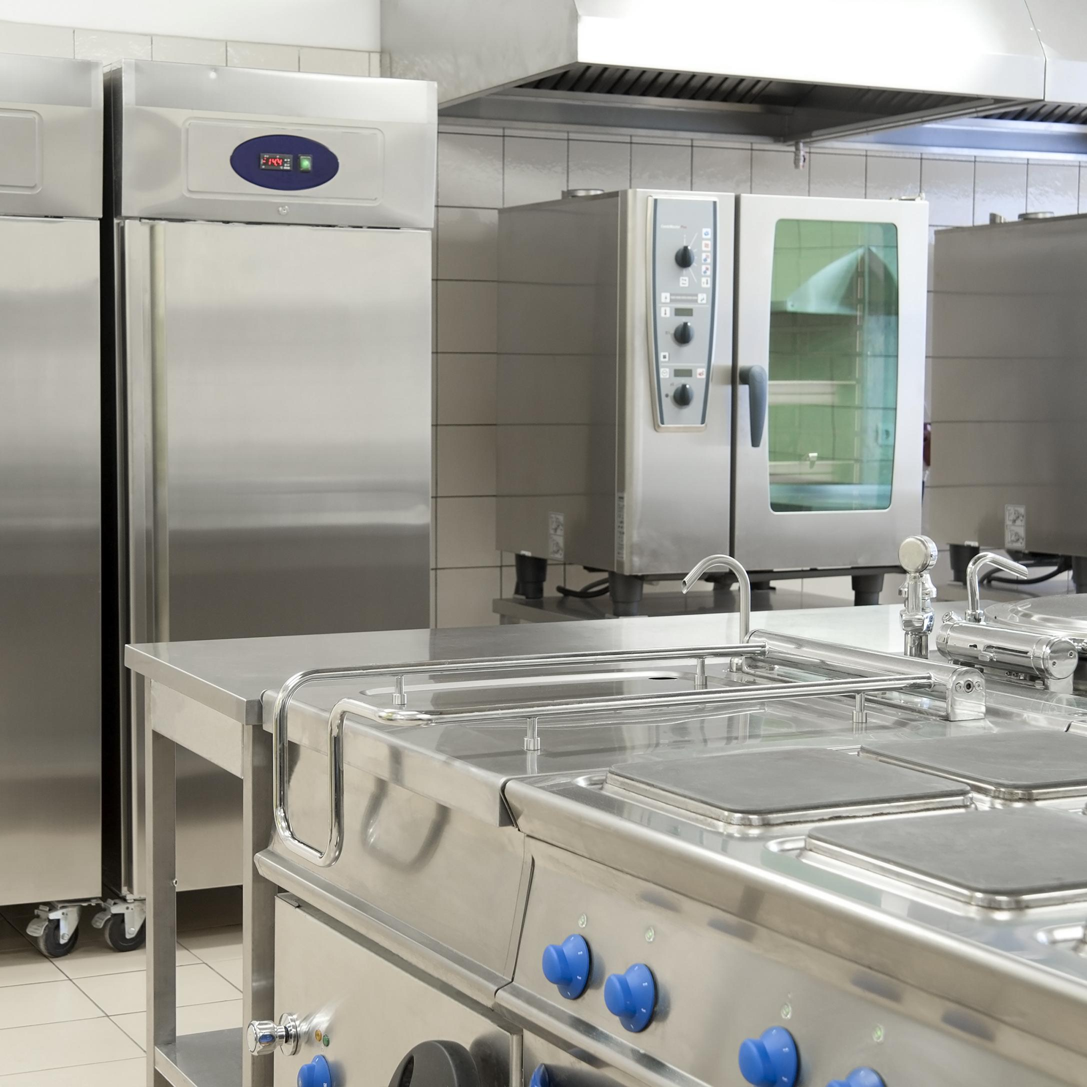Restaurant kitchen appliances.